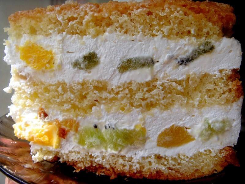 Творожно-йогуртовый крем для бисквитного торта