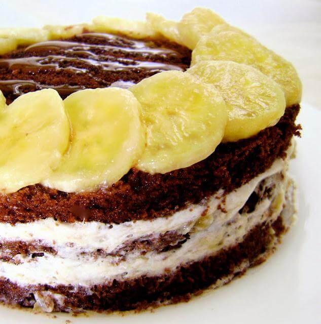 Торт шоколадный рецепты с бананами